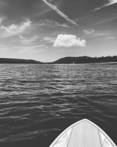 Paddle boarding is easy on Big Bear Lake!