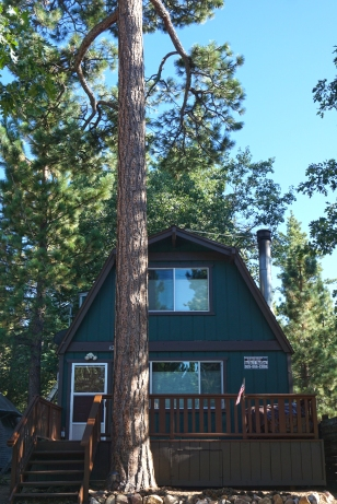 New paint job at Big Bear Forest Cabin