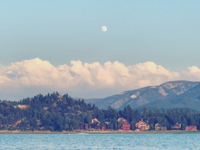 Moonrise over Big Bear Lake 1.5 mi away from BBFC